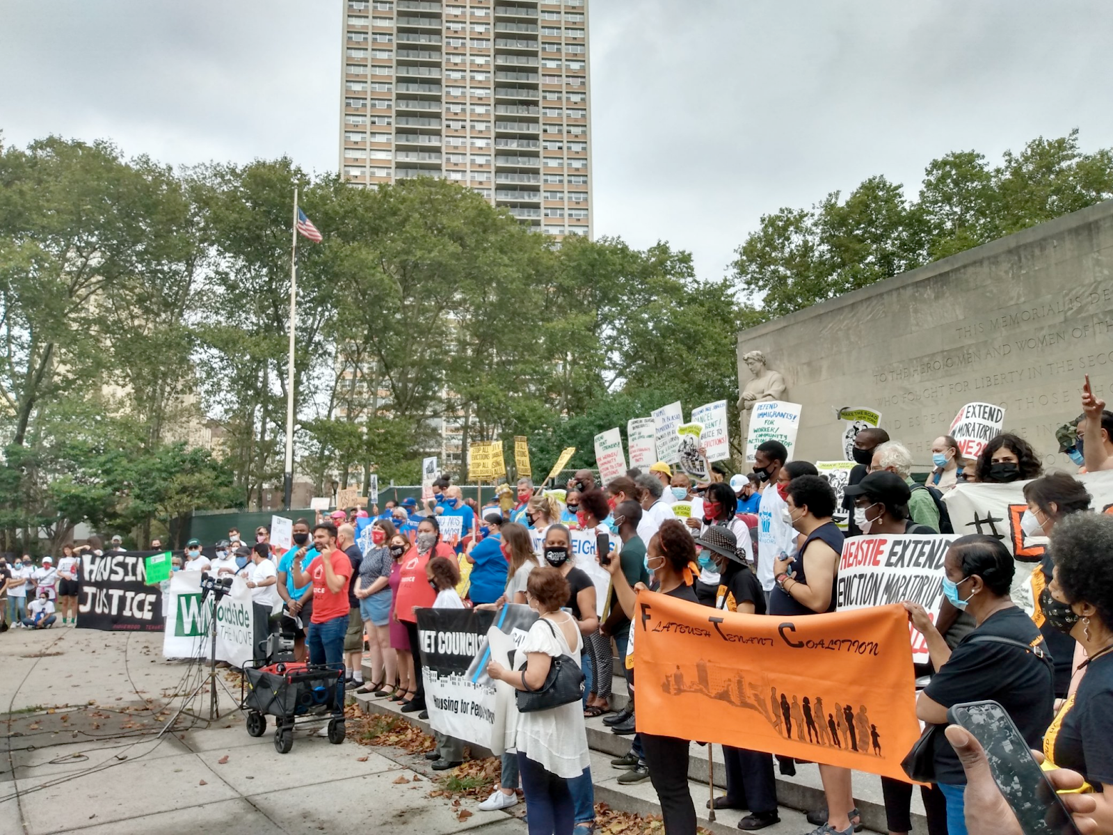 Advocates and Electeds Rally for Renewed Eviction Moratorium After Supreme Court Ruling