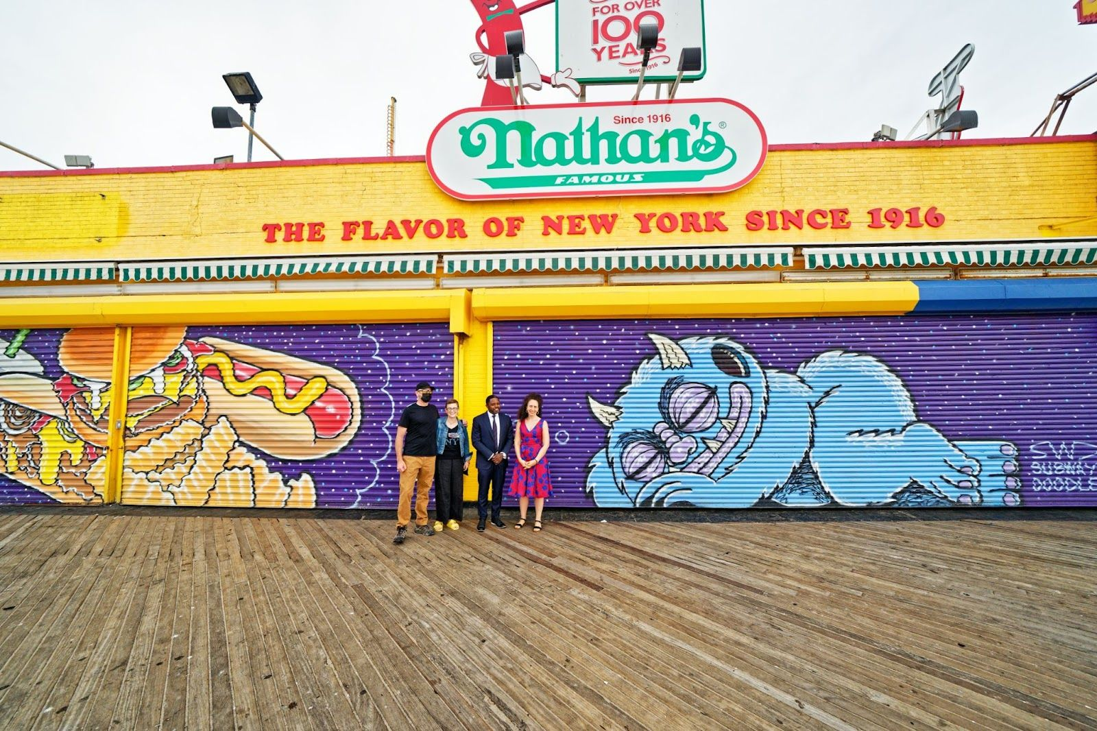 New Storefront Murals Unveiled in Coney Island
